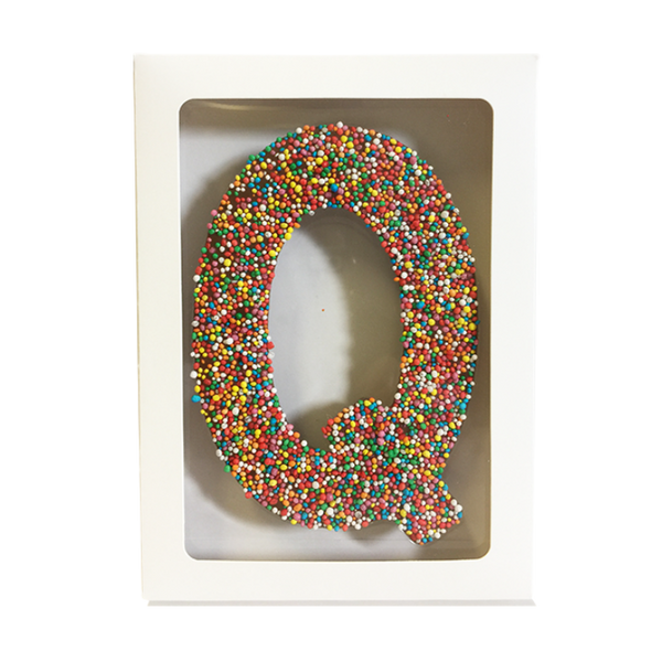 "Chocolate Gallery Freckle Letter ""Q"""
