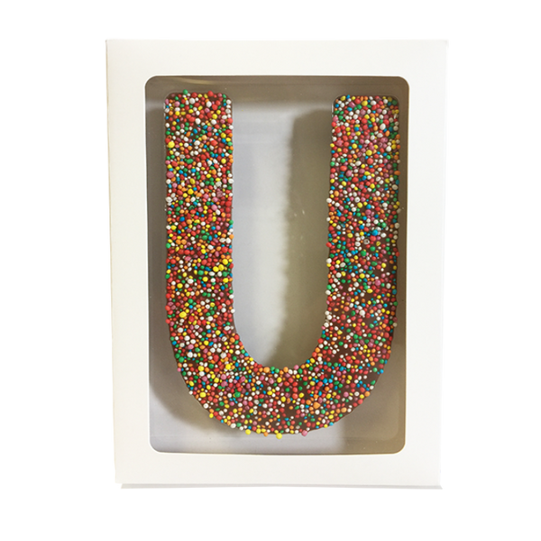 "Chocolate Gallery Freckle Letter ""U"""