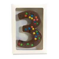 "Chocolate Gallery Mini M&Ms Number ""3"""