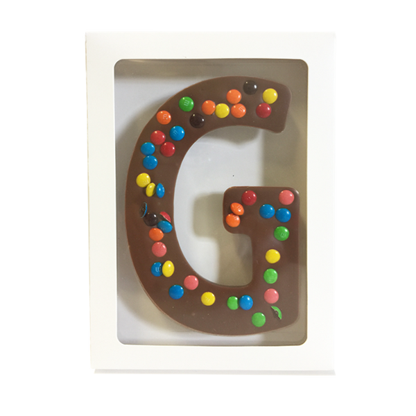 "Chocolate Gallery Mini M&Ms Letter ""G'"