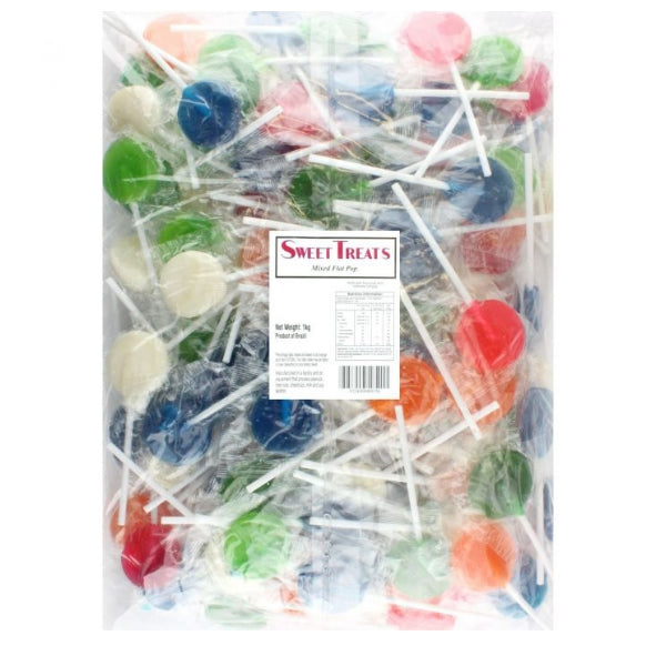 Sweet Treats Assorted Flat Lollipops 125pcs