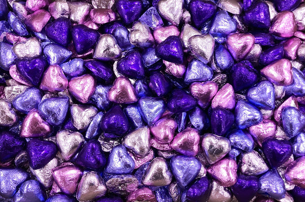 Pauls Chocolates Purple Mix Milk Chocolate Hearts