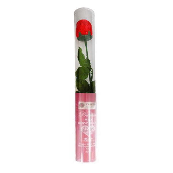 Famous Makers Stem Rose In Cylinder