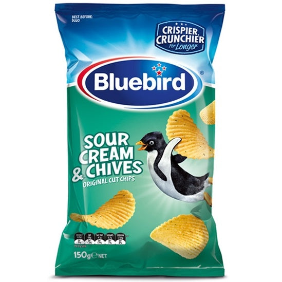 Bluebird Sour Cream & Chives Original Cut Chips
