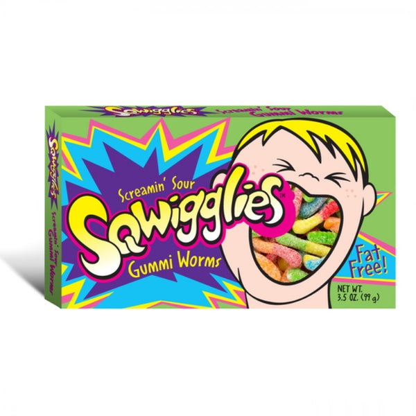 Taste of Nature Sqwigglies Sour Worms Movie Box