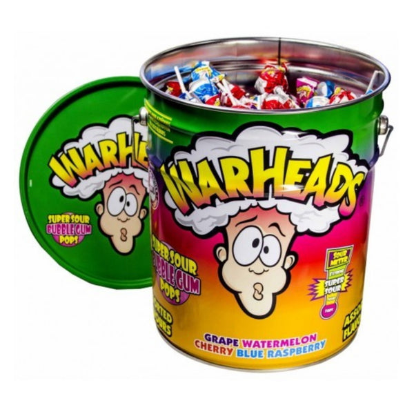 Impact Confections. Inc Warheads Super Sour Bubblegum Lollipop Tin