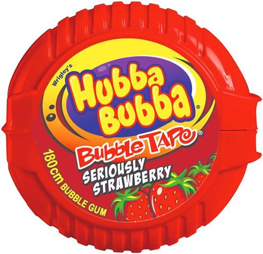 Wrigley's Hubba Bubba Strawberry Tape