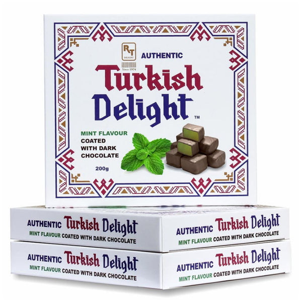 RTD Confectionery Authentic Turkish Delight Mint Dark Chocolate