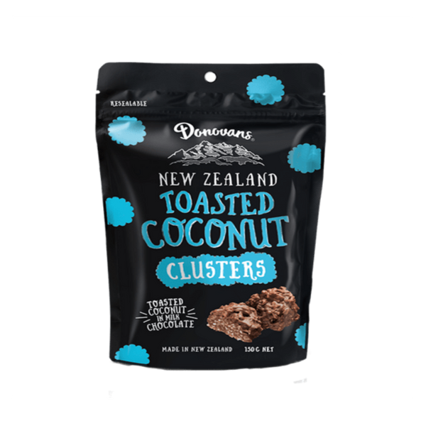 Donovans Toasted Coconut Choc Clusters Pouch