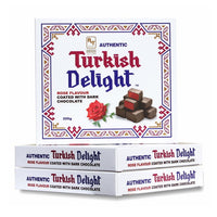 RTD Confectionery Authentic Turkish Delight Rose Dark Chocolate