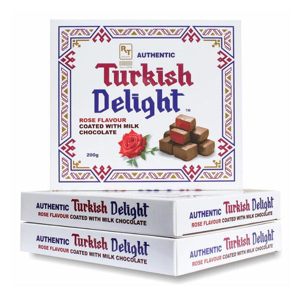 RTD Confectionery Authentic Turkish Delight Rose Milk Chocolate