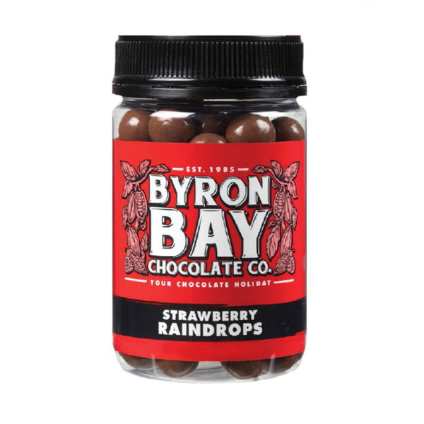 Byron Bay Chocolate Co. Strawberry Raindrops Jar