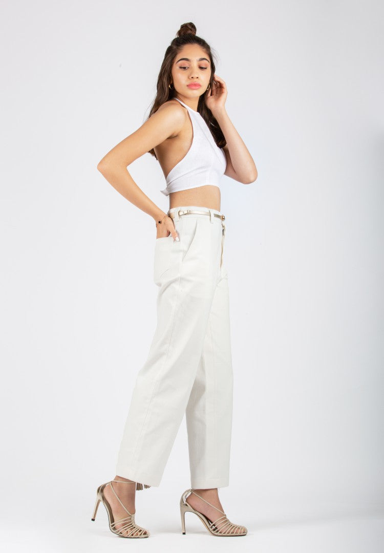 Dream Wide-Leg White Pant