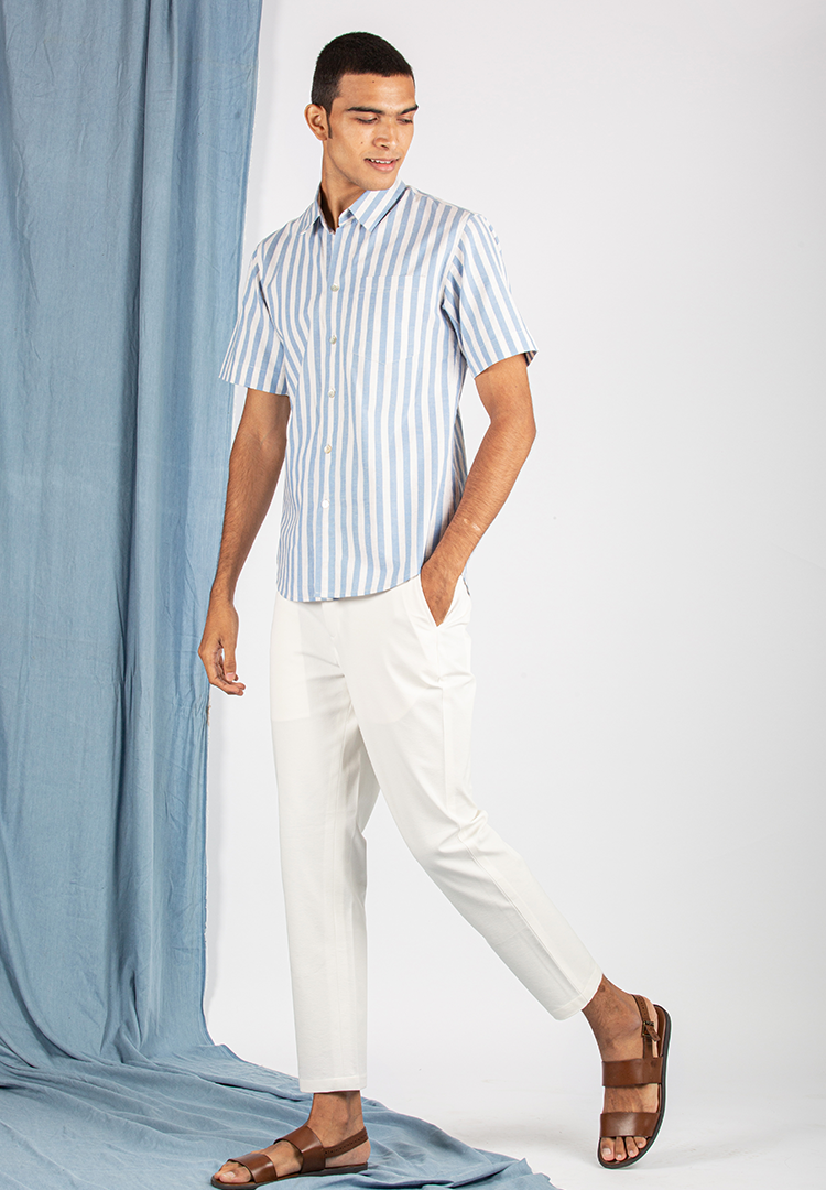 Off-Duty White Chinos