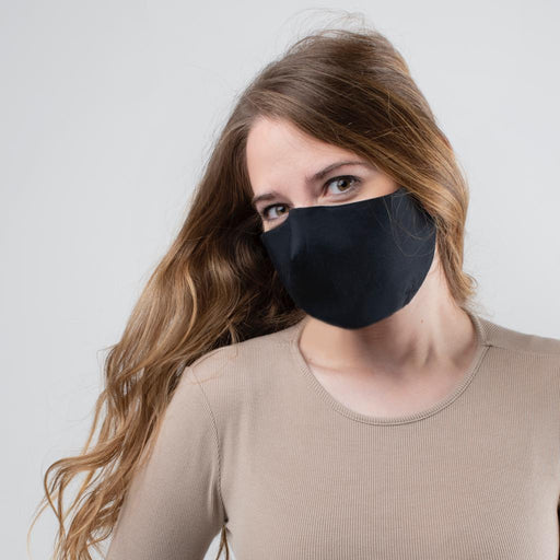 3-Layer Reusable Washable 100% Cotton Face Mask - Black-Unisync-PriceWhack.com