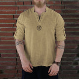 Summer Men's shirt Camisa New Style Long sleeve Loose shirt Personality Cotton-linen Pure Blouse Top Streetwear Camisa masculina