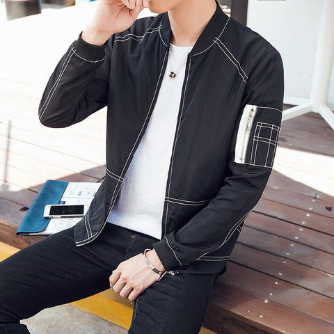 Spring New Men's Bomber Zipper Jacket Male Casual Streetwear Hip Hop Slim Fit Pilot Coat Men Clothing Plus Size 5XL