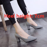 Cresfimix tacones altos women fashion sweet comfortable slip on high heel shoes lady casual office square high heel shoes a2947