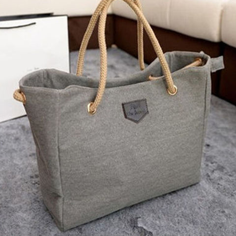 Woman's Handbag Reusable Eco Large Shopping Bag Solid Color Casual Shoulder Bag Fashion Female Handbags Tote bag Ladies Pouch