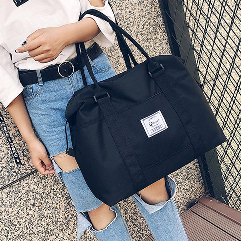 2018 Women Shoulder Bags Oxford Casual Travel Tote Bag Big Size Women's Handbags Solid Satchel Women Bags bolsa feminina