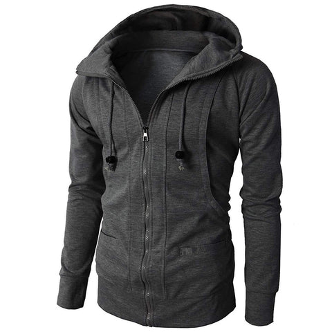 Sweatshirts ens' Autumn Winter Long Sleeve Sport Hoodies  Zipper Pullover  Solid Men's Clothing   18SEP26