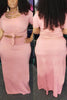 Image of Plus Size Pure Color Skirt Set