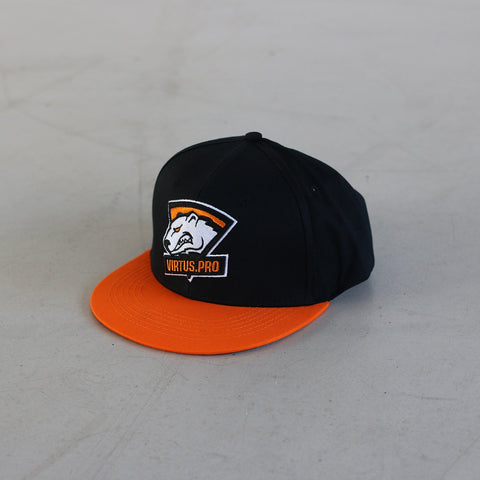 Virtus Pro Cap Black on Orange