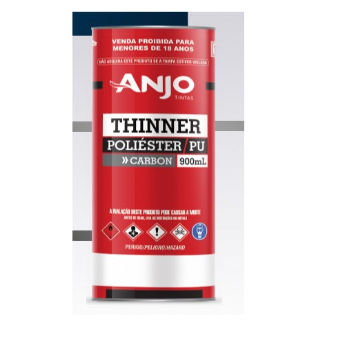 Thinner Diluente PU Carbon - 5003 900ml - Anjo