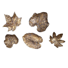 Load image into Gallery viewer, BRONZE LEAVES WALL DECOR, S/5