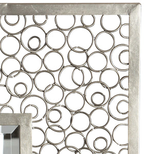 COLUSA SQUARES MIRRORED WALL DECOR, S/2