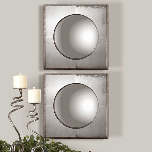 SAVIO SQUARE MIRRORS, S/2