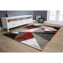 Load image into Gallery viewer, Platinum Triangles Rug