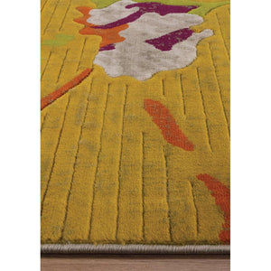 Topaz Watercolor Flowers Texture Rug