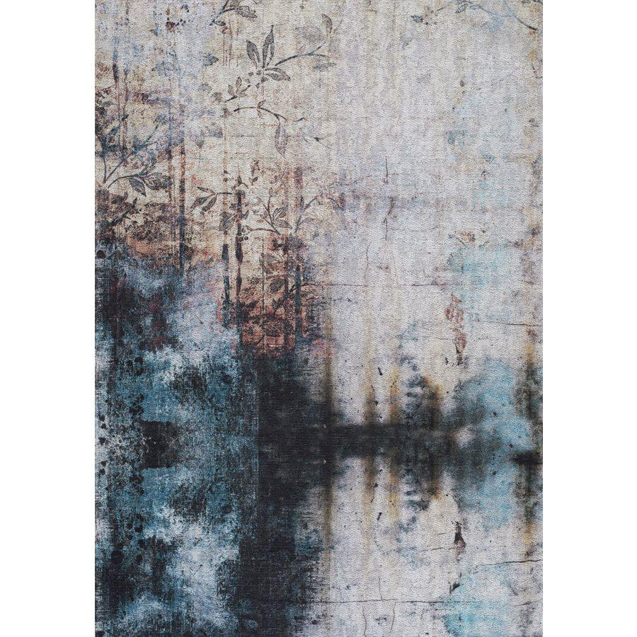 Morello Distressed Flower Rug
