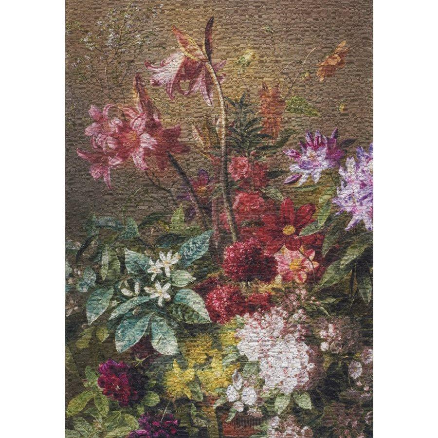 Morello Intricate Flower Painting Rug