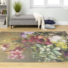 Load image into Gallery viewer, Morello Intricate Flower Painting Rug