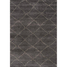 Load image into Gallery viewer, Maroq Charcoal Diamonds Soft Touch Rug