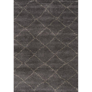 Maroq Charcoal Diamonds Soft Touch Rug