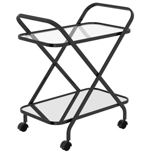 ORISO-2-TIER BAR CART-BLACK
