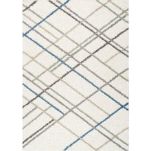 Load image into Gallery viewer, Maroq Multicolour Crossed Lines Rug