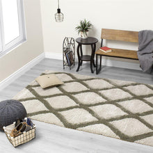 Load image into Gallery viewer, Solo Green Elegant Lattice Rug