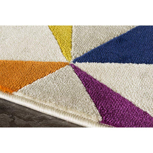 Topaz Diamond Checkerboard Rug