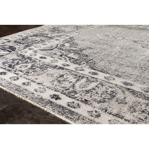 Sara Faded Traditional Diamond Border Rug