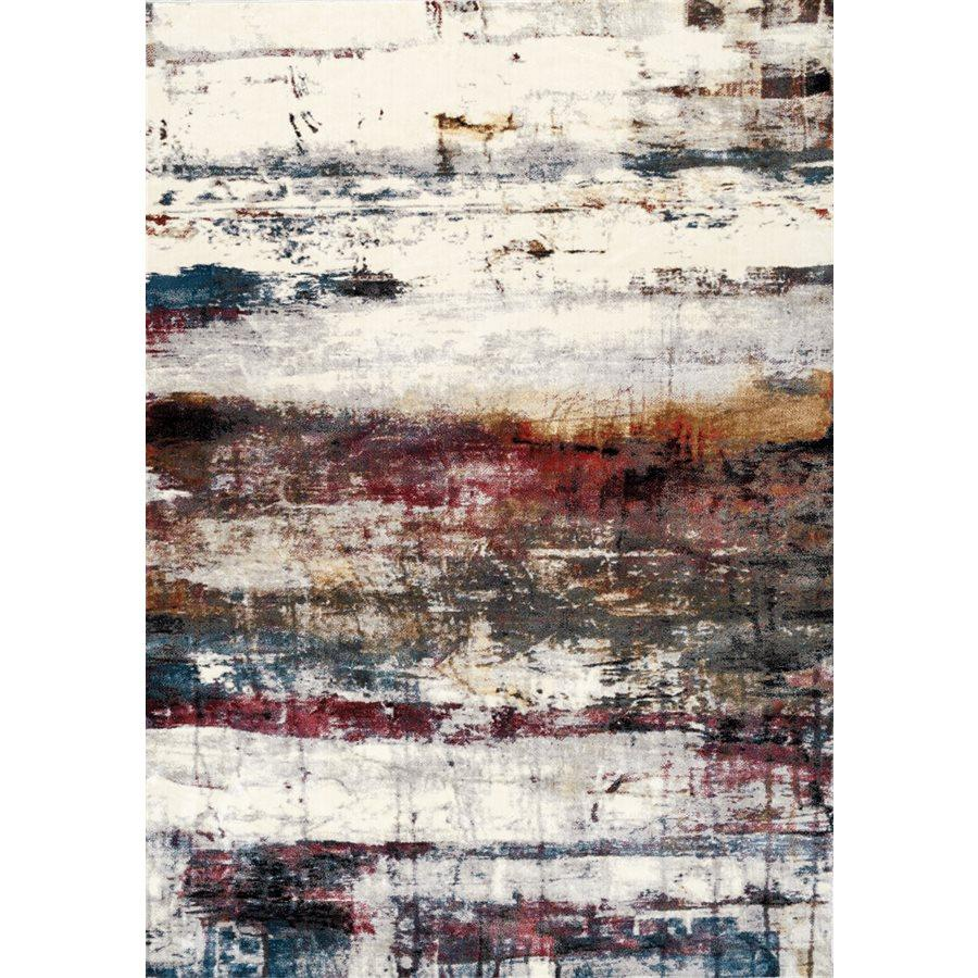 Sidra Multicoloured Banded Rug