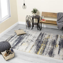 Load image into Gallery viewer, Saffron Distressed Band Rug