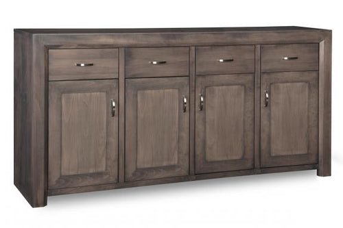 Contempo Sideboard w/4 Wood Doors & 4/Dwrs & 3/Wood Adjust