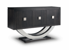 Load image into Gallery viewer, Contempo Pedestal Sideboard w/Metal Curves and 3 Doors