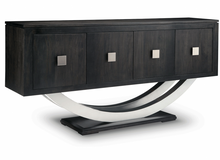 Load image into Gallery viewer, Contempo Pedestal Sideboard w/Metal Curves and 4 Doors