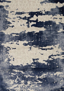 Alida Blue/Cream Distress Rug