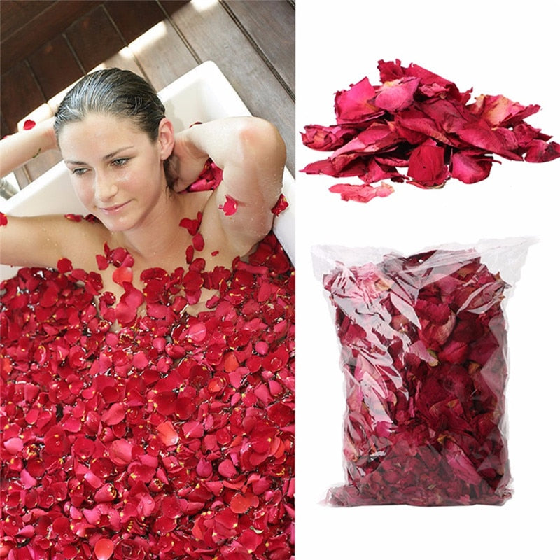 Dried Rose Petals Natural Flower Bath Spa Whitening Shower Dry Rose Natural Flower Petal Bathing Relieve Fragrant Body